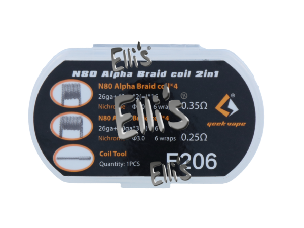 N80 Alpha Braid coil 2in1 - F206