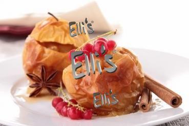 Bratapfel Ellis Lebensmittelaroma für Speisen aller Art mit leichter Zimtnote.Zum Mischen von E.Liquids für Dampfer einer E.Zigarette