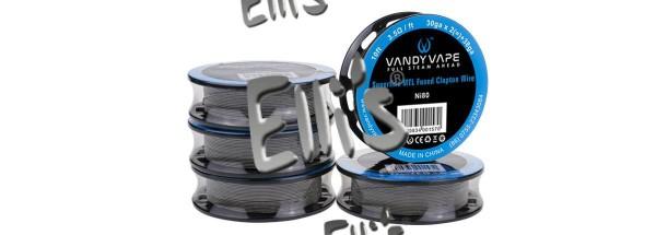 Vandy Vape 3 Meter Ni80 Superfine MTL Fused Clapton 32GA*2/38GA Wickeldraht - W6