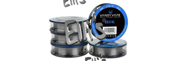Vandy Vape 3 Meter SS316L Superfine MTL Fused Clapton 30ga*2/38ga Wickeldraht - W2