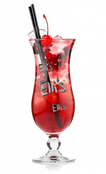 Roter Fruchtcocktail