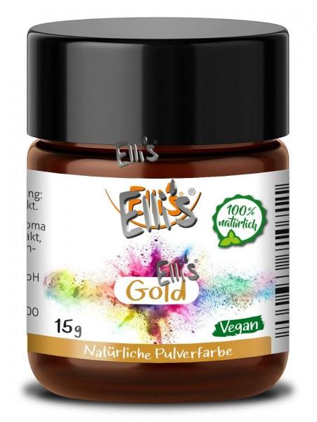Pulver Lebensmittelfarbe Gold