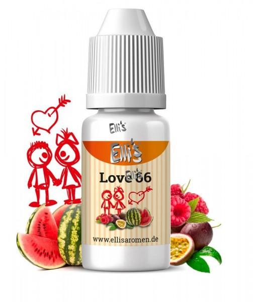 Ellis Premium Lebensmittelaroma mit Melone Himbeere und Maracuja Love 66
