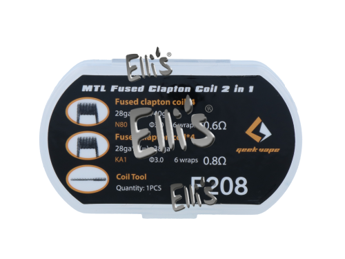 MTL Fused Clapton Coil 2in1 - F208
