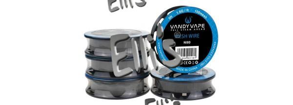Vandy Vape 1.50 Meter Ni80 Mesh Wire 100 Wickeldraht - M2