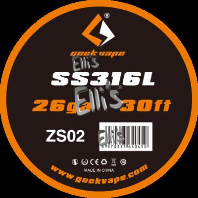 GeekVape 10 Meter DIY SS316L Wire 26GA (0.40 mm) Wickeldraht